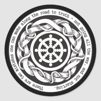 Road to Truth Dharma Wheel Round Stickers