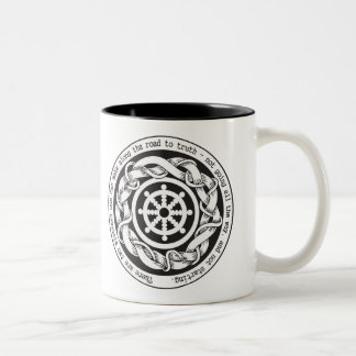 Road to Truth Dharma Wheel Two-Tone Coffee Mug