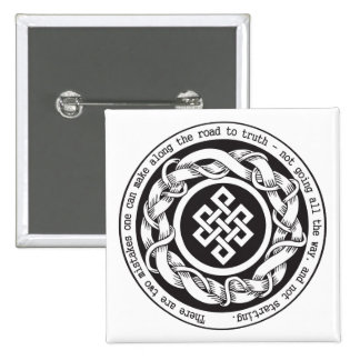 Road to Truth Endless Knot 2 Inch Square Button