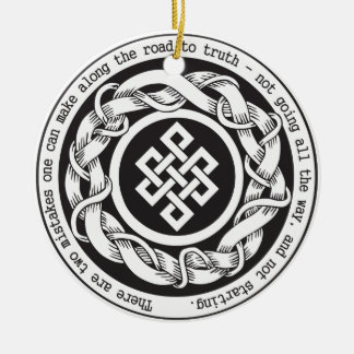 Road to Truth Endless Knot Ceramic Ornament