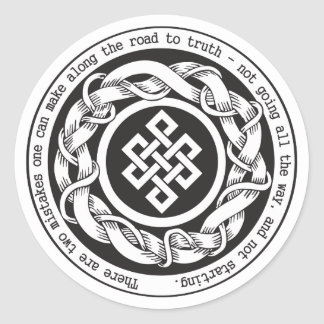 Road to Truth Endless Knot Classic Round Sticker