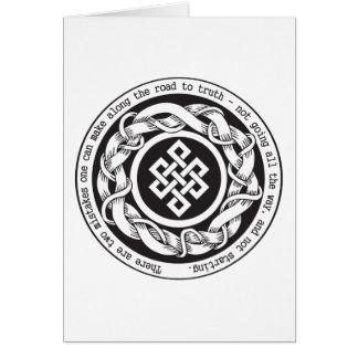 Road to Truth Endless Knot Greeting Card