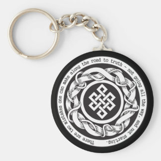 Road to Truth Endless Knot Basic Round Button Keychain