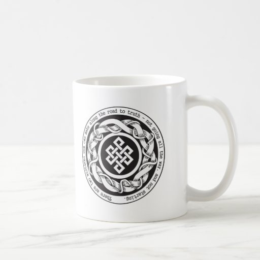 Road to Truth Endless Knot Classic White Coffee Mug