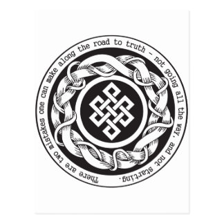 Road to Truth Endless Knot Postcard