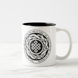 Road to Truth Endless Knot Two-Tone Coffee Mug