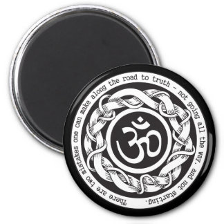 Road to Truth Om 2 Inch Round Magnet