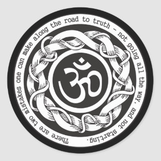 Road to Truth Om Classic Round Sticker