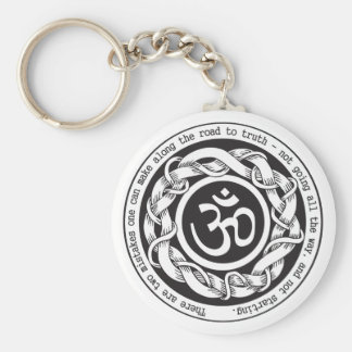 Road to Truth Om Basic Round Button Keychain