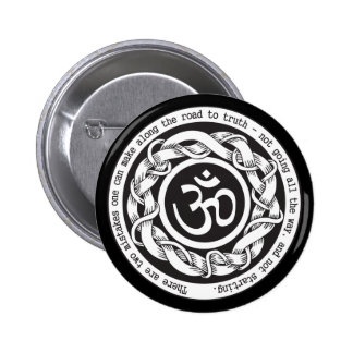 Road to Truth Om Pinback Button