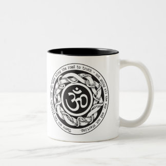 Road to Truth Om Two-Tone Coffee Mug