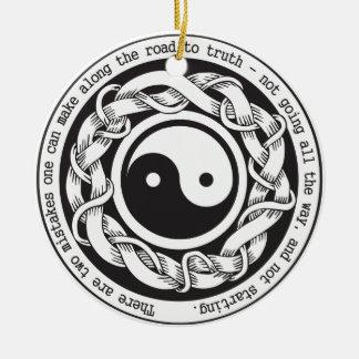 Road to Truth Yin Yang Ceramic Ornament