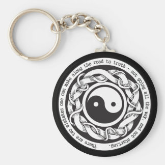 Road to Truth Yin Yang Keychain