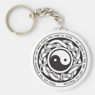 Road to Truth Yin Yang Basic Round Button Keychain