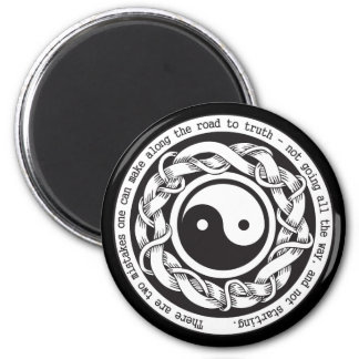 Road to Truth Yin Yang Refrigerator Magnet