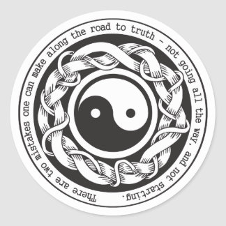 Road to Truth Yin Yang Round Stickers