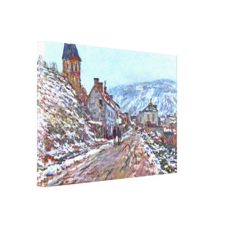 Road to Vetheuil in winter by Claude Monet Canvas Print