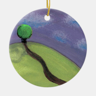 Road To Violet Ceramic Ornament