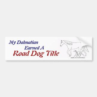 Road Trial: RD Title - Dalmatian Car Bumper Sticker
