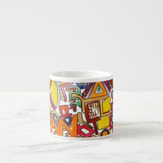 Road Trip - Abstract Art Espresso Cup