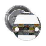 Road trip across the country 2 inch round button