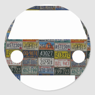 Road trip across the country classic round sticker