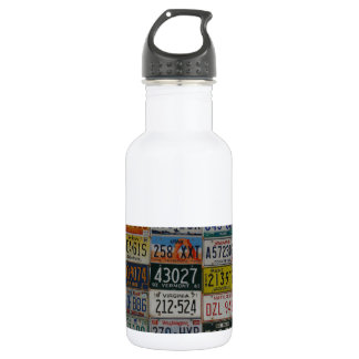 Road trip across the country water bottle