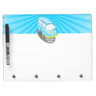 Road Trip Blue Van Dry-Erase Whiteboard