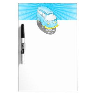 Road Trip Blue Van Dry Erase Whiteboards