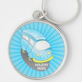 Road Trip Blue Van Keychain