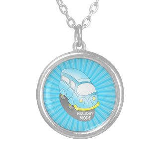 Road Trip Blue Van Silver Plated Necklace