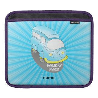 Road Trip Blue Van Sleeves For iPads