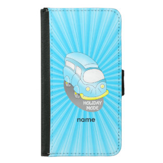 Road Trip Blue Van Wallet Phone Case For Samsung Galaxy S5
