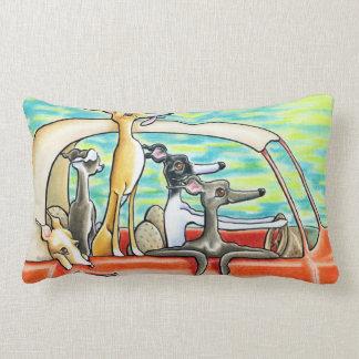 Road Trip by Andie Lumbar Pillow