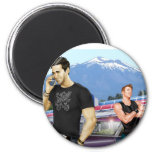 Road Trip by Joe Phillips 2 Inch Round Magnet