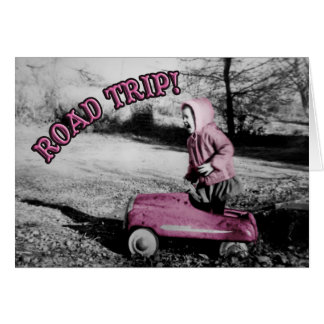 Road Trip! card - hot pink w/template