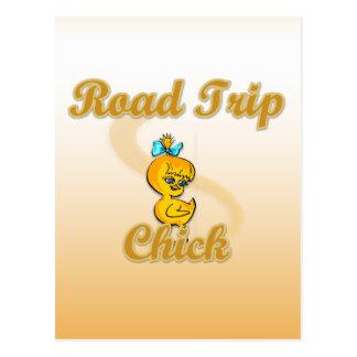 Road Trip Chick Postcard