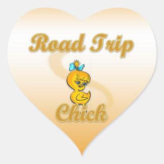 Road Trip Chick Sticker