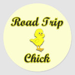 Road Trip Chick Stickers