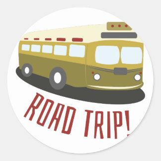 Road Trip! Classic Round Sticker