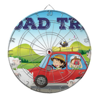 Road trip dartboard with darts