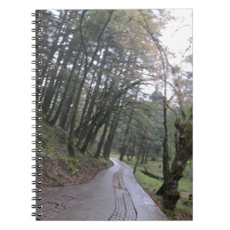 Road trip forest jungle spiral notebook