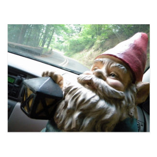 Road Trip Gnome Postcard