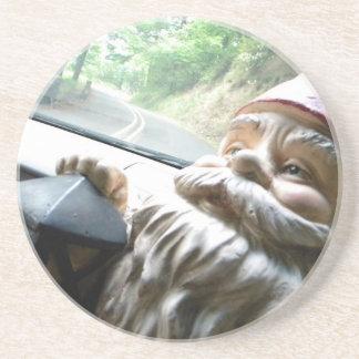 Road Trip Gnome Sandstone Coaster