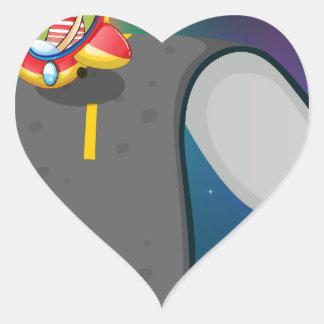 Road trip heart sticker