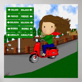 Road Trip Italy Print