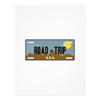 Road Trip Letterhead Template