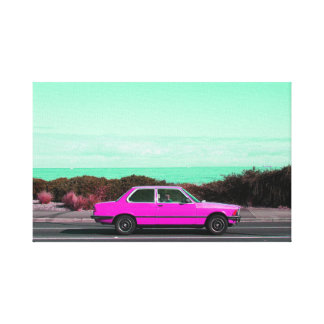 Road Trip (Pink/Turquoise) canvas print