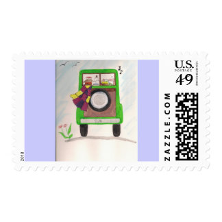 Road Trip Postage Stamps