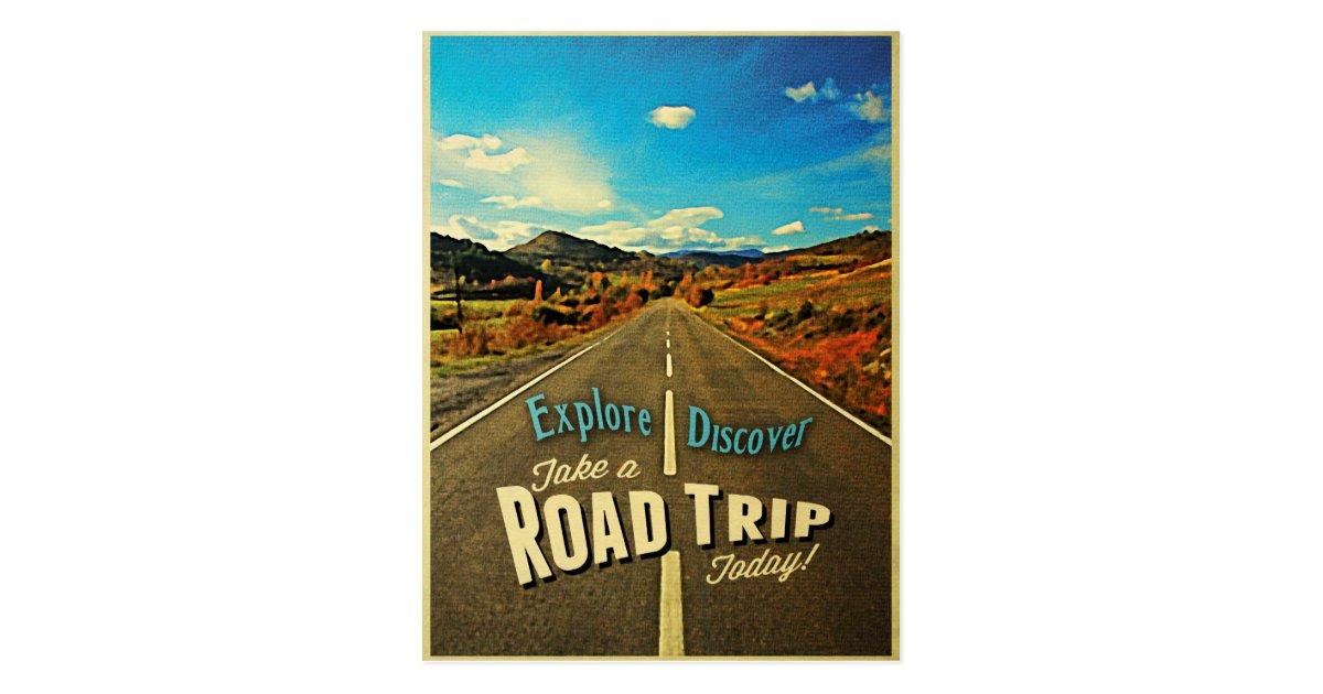 Road Trip Postcard | Zazzle